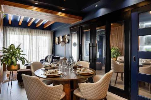 Роскошная квартира-лофт с панорамным бассейном.