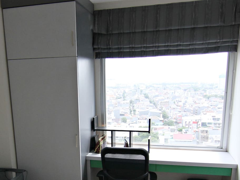 Work Space With City View