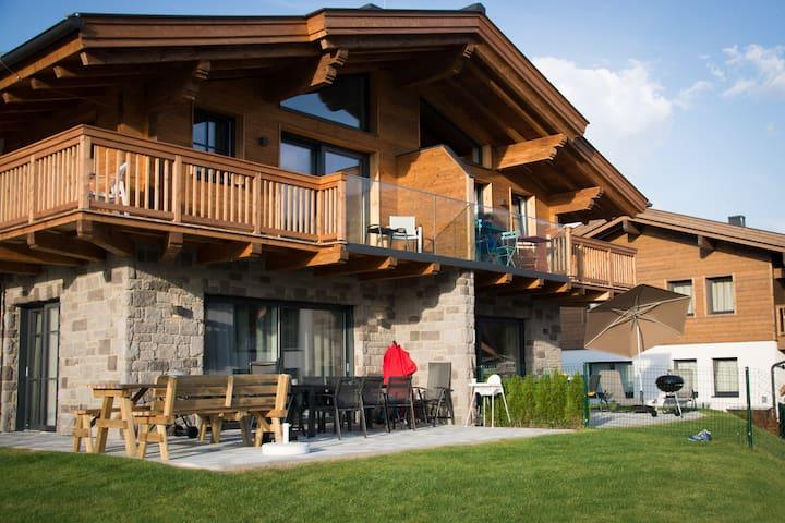 Bergbiberhaus A (ground floor): terrace & sauna - Piesendorf - Apartemen