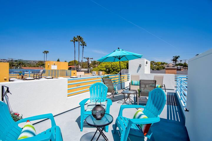 Beach condo w/rooftop patio, near Trestles & San Onofre surf spots!