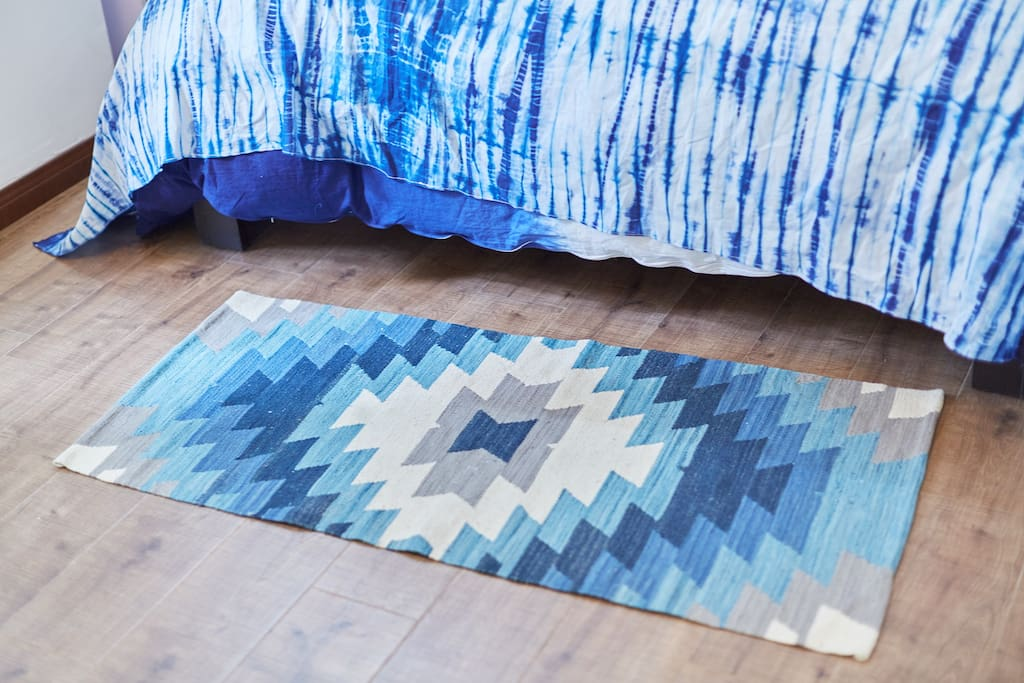 Blue rug from india