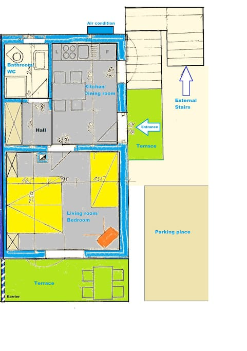 Layout of apartment Bag.