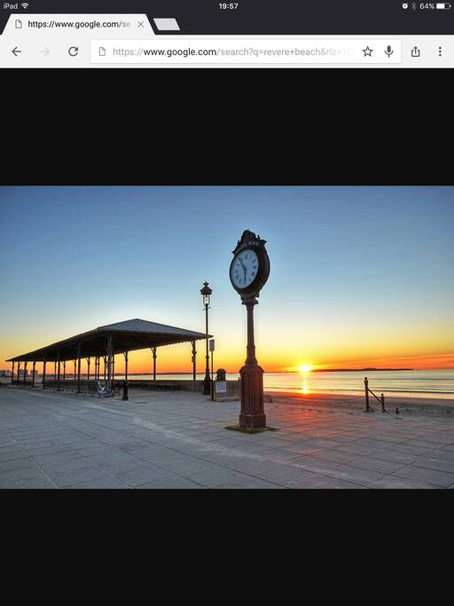 Revere Beach - approximately 1 mile (20 minute walk) from the house.