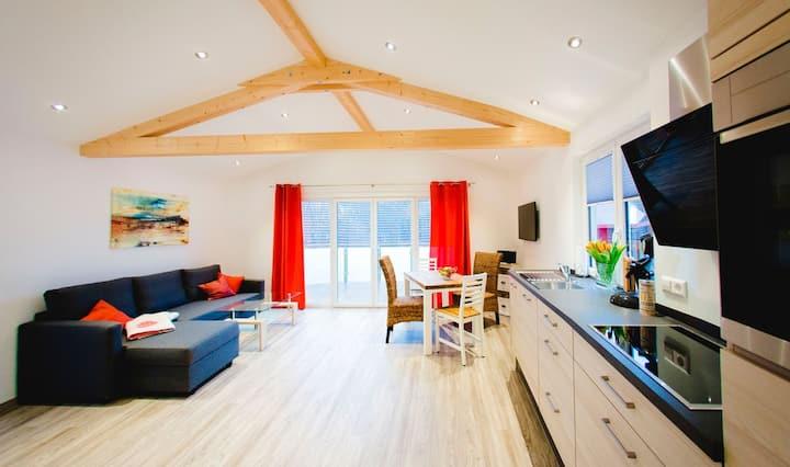 Jeglehof, (Salem), Ferienhaus mit Balkon und Terrasse, 55qm, 1 Schlafzimmer, max. 3 Personen