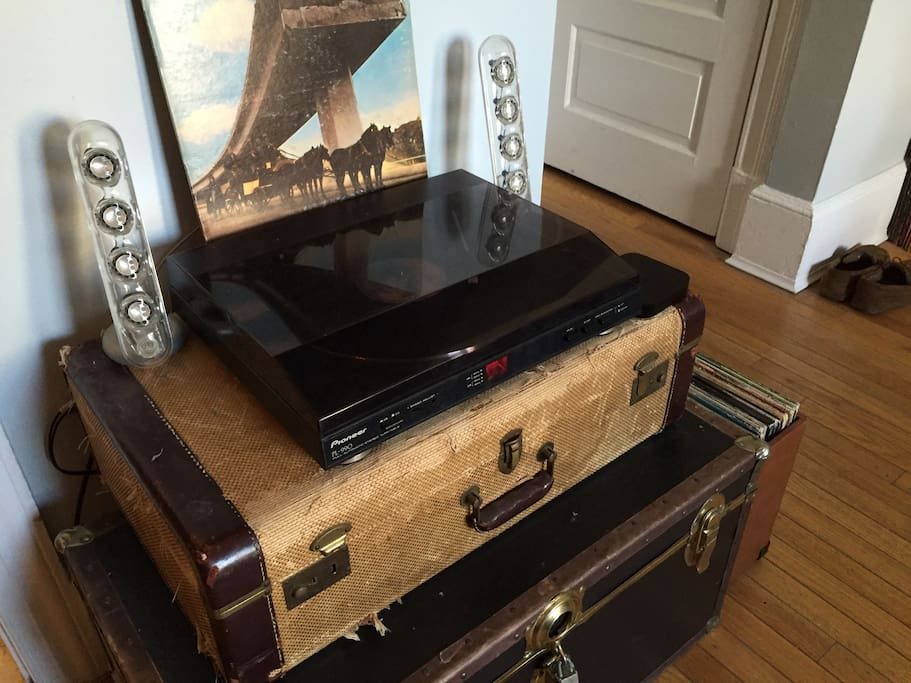 A record player you are welcome to use!