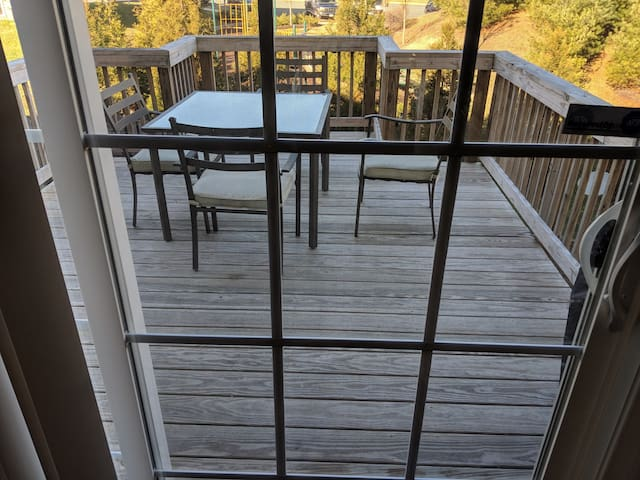 Rear deck for nice days.