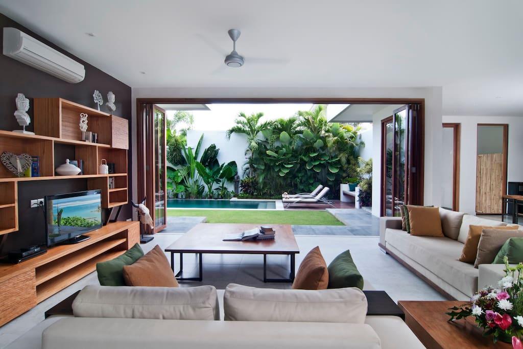 Living Room Facing the Pool