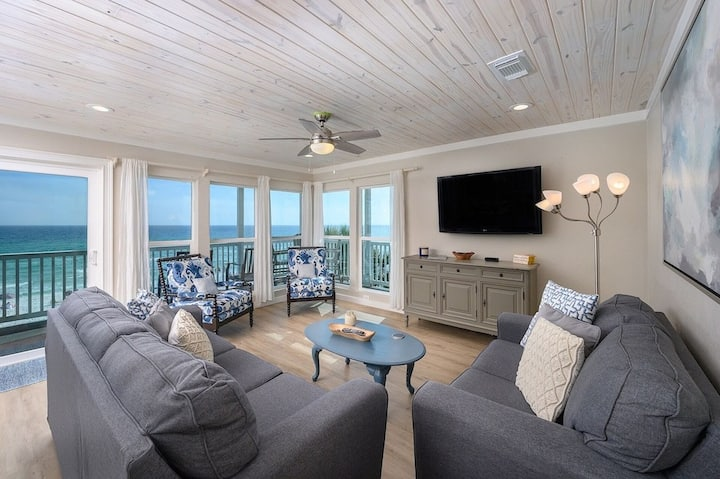 On Cloud 9 is Beach Front Paradise!  You can't get any closer than this!