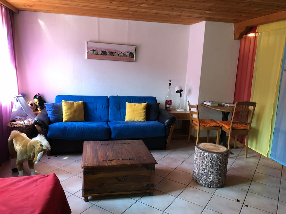 Salon avec canapé-lit confortable 150x200