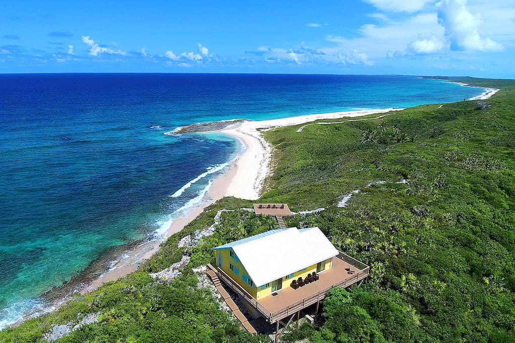 Aerial image showing our incredible vista and expansive ocean views over 30 miles down the coast.