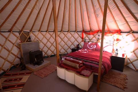 Glamping at Skye Yurts - Fire Yurt