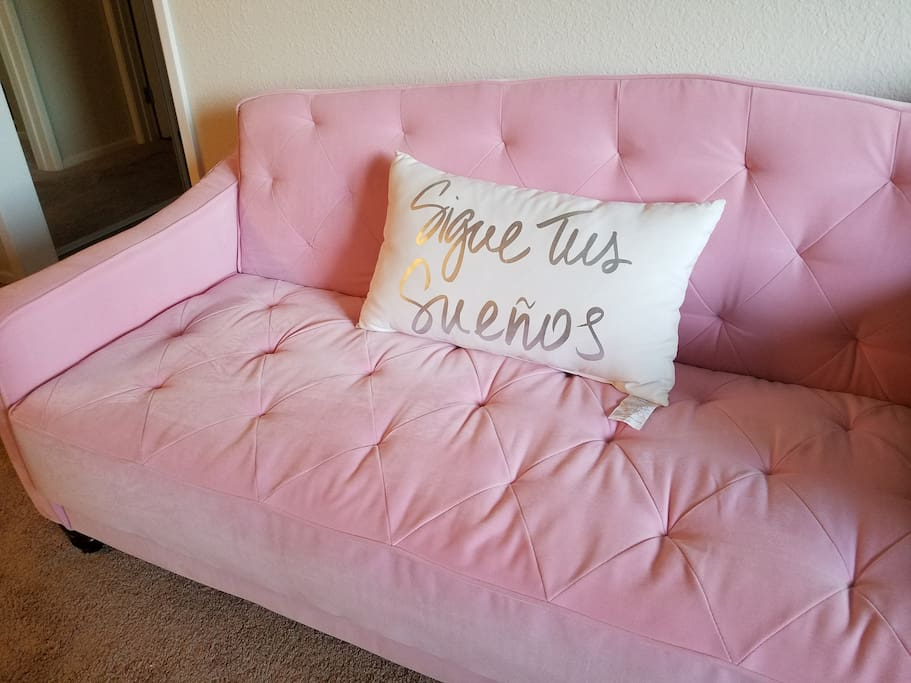 Have you ever slept on a pink couch?!