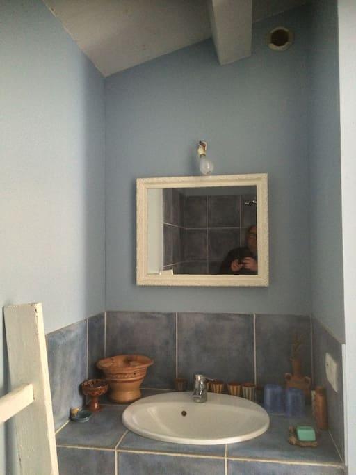 Salle de bain autonome avec douche à l'italienne