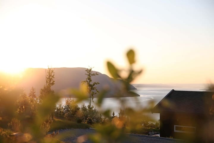 Modern cabin with a stunning view 60 min from Oslo