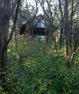 Secluded Firehouse Cabin sleeps 7 - Marble Falls