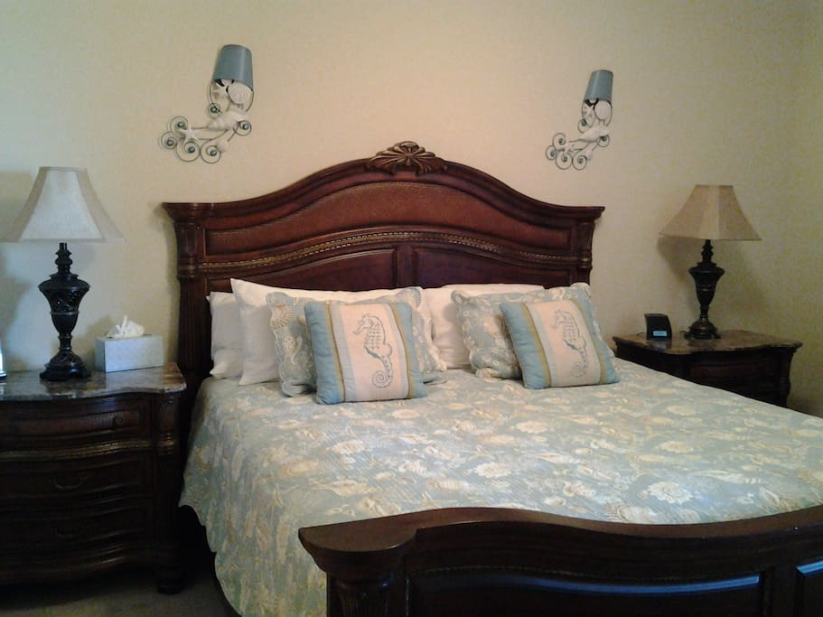 Master Bedroom with comfy king size euro-top mattress