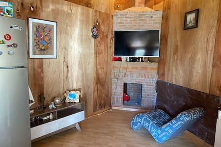 Linda cabaña de descanso en residencial
