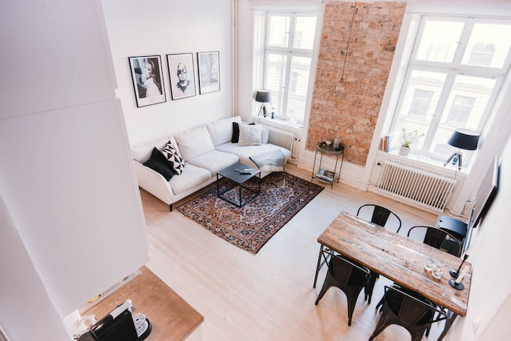 Exclusive architectural apartment in Norrmalm