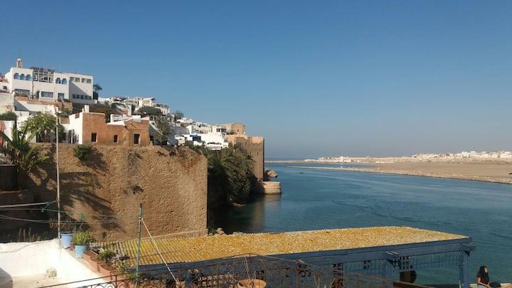 Jolie riad dans la Casbah des Oudayas