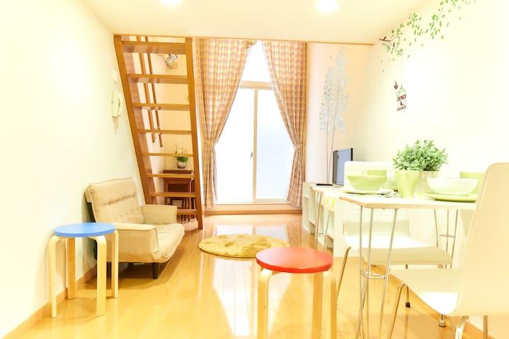 Bright loft room/SHINJYUKU 20mins/residential area
