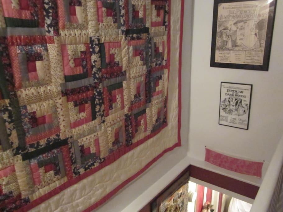 Quilts are featured in all the rooms and hallways, too!