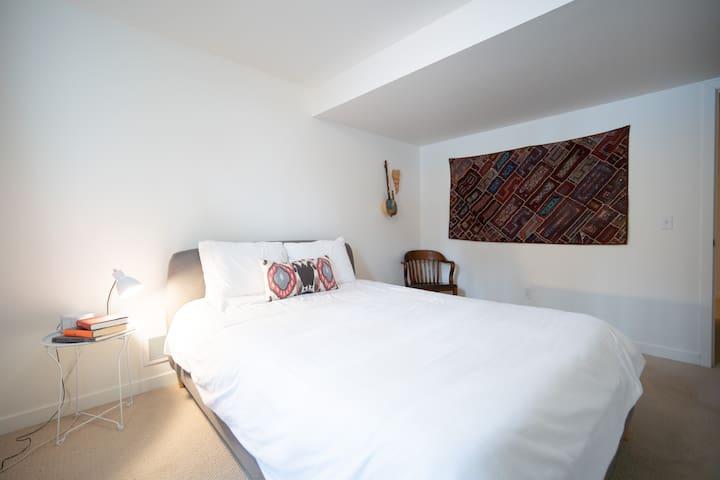 Lower Level Queen Bedroom with Memory Mattress