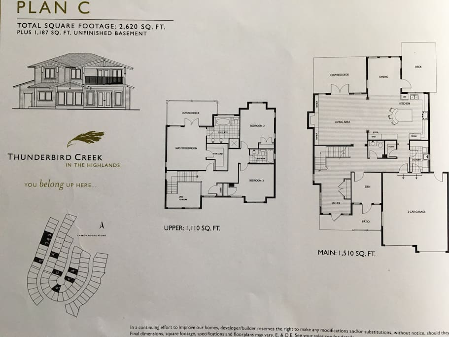 This is the floor plan of the house. It is two floors.
