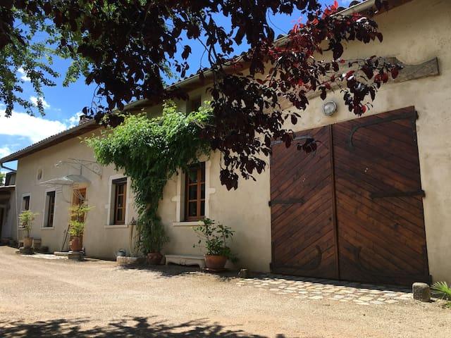 Grande maison de charme avec piscine - Genas - Casa