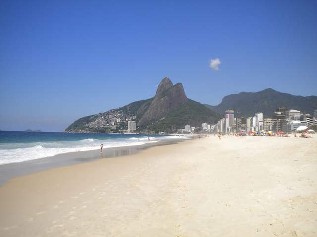Ipanema Beach,  on the same street as the Penthouse, a few minutes walking distance