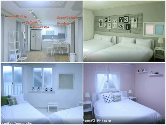 D/C! 3BR+2Bath☆Center of Hongdae☆Free WiFi Egg 홍대