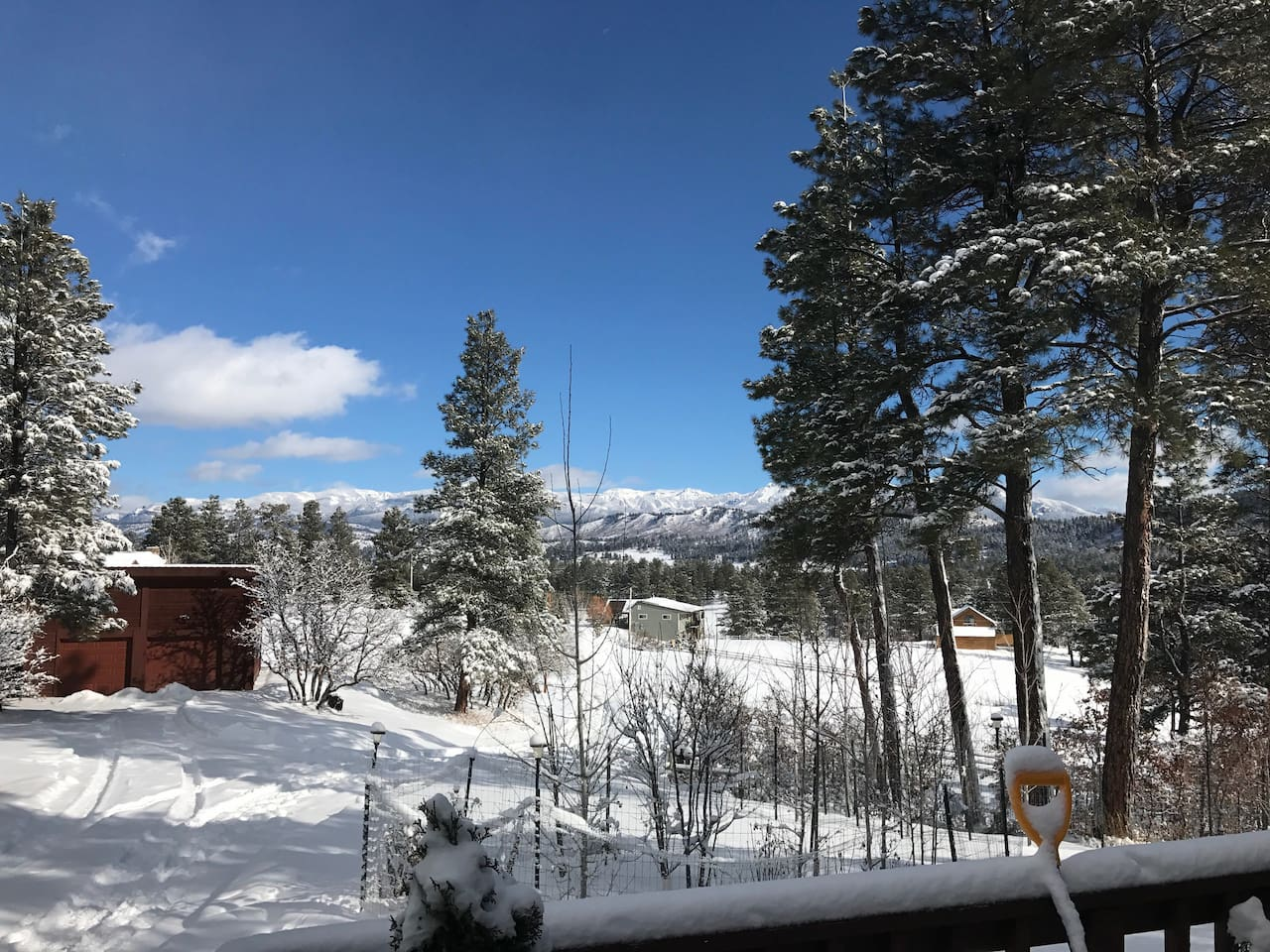 Winter view from our front deck