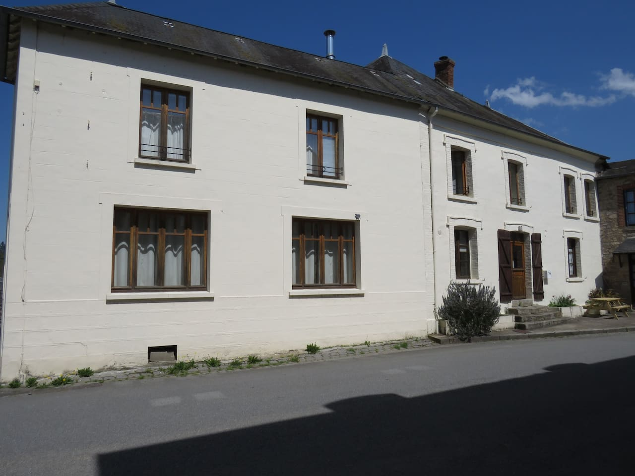 The house stands proud in the centre of the village, just ask for Maison Blanche.