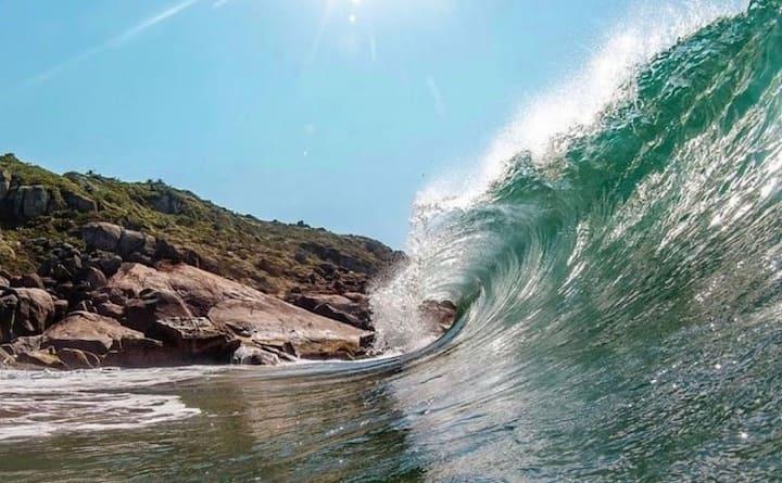 50m Praia, Piscina, Parquinho, Churrasqueira, Ar