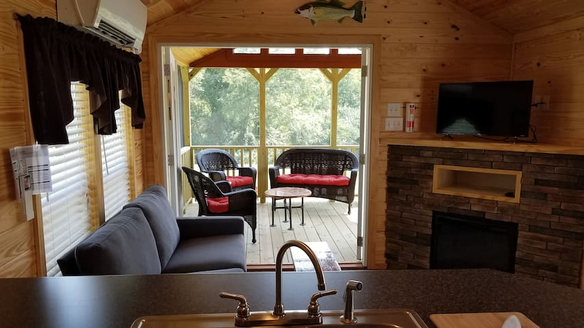 Deluxe Cabin, River Camp:  Eastford, CT