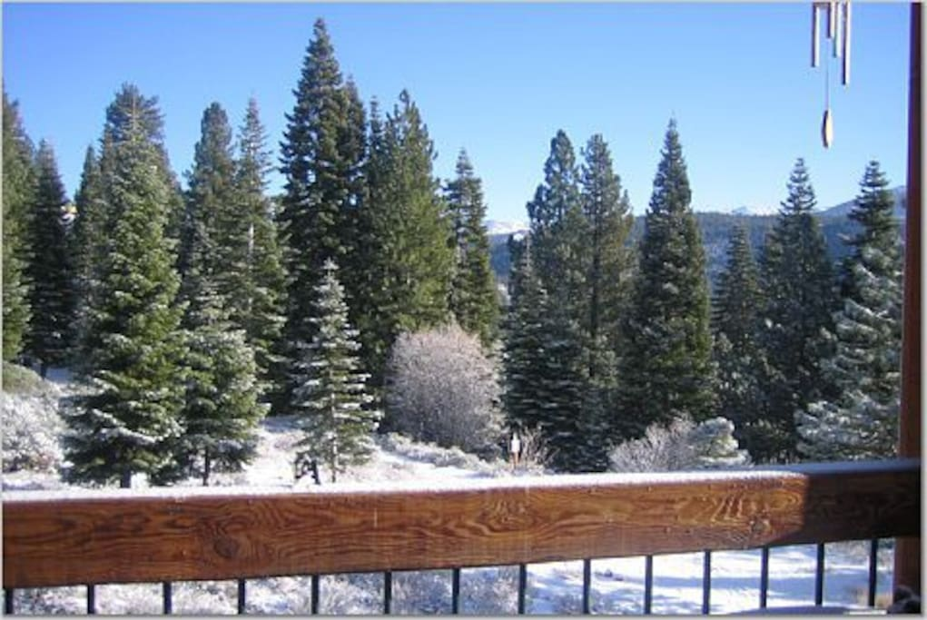 Winter Views to Mt Rose from upstairs deck