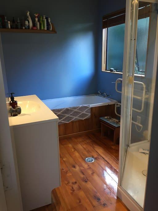 Clean separate bathroom