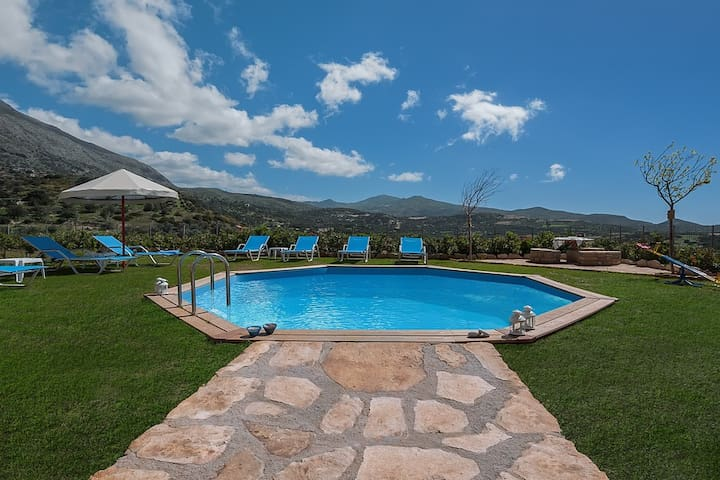 유 N【TOP】A Villa to relax*Private Pool*WiFi! - Triopetra Rethymno Crete