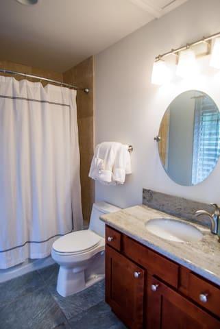 Bathroom with Bath tub.