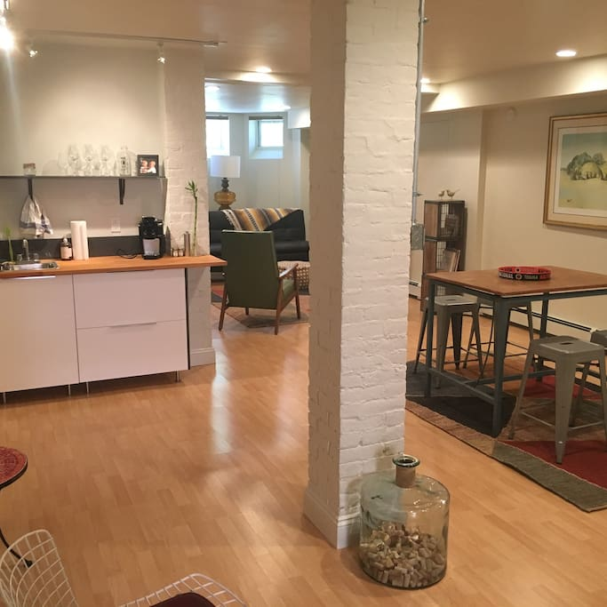 750 sq ft of bright, open living space