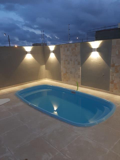 Casa na praia nova c piscina
