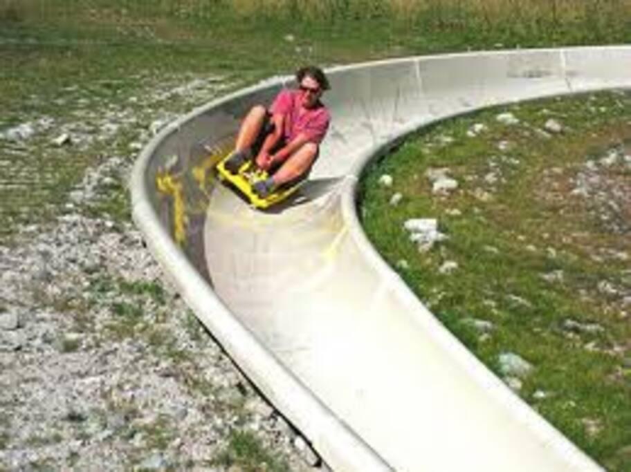 summer activities...alpine slide,ziplines,and more...right below