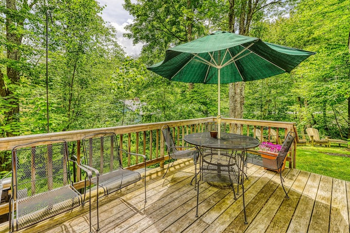 New listing! Dog-friendly skier's paradise w/ fireplace, grill & furnished deck