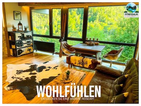 FITNESSALM Apartment mit Bergblick und Indoor-Pool