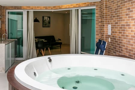 Flat Estanconfor Garden com Jacuzzi Privativa