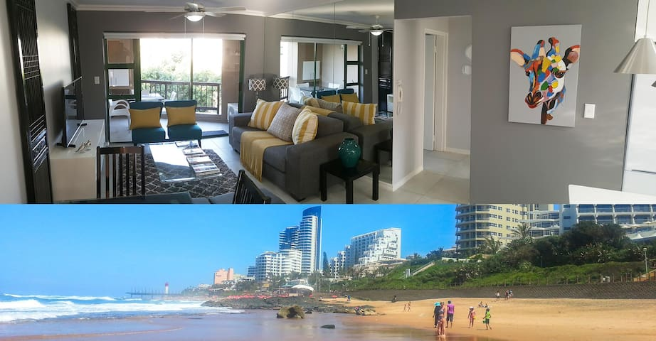Umhlanga Beach 4 beds Aircon Pool Wifi Dstv Braai