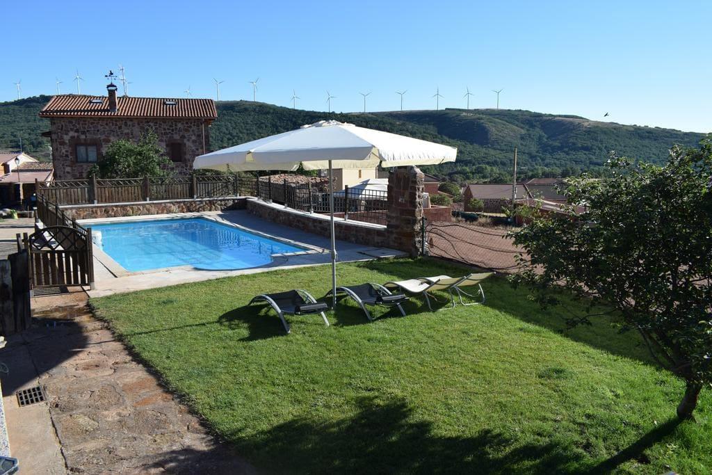 casa rural burgos 6 7 plz piscina y barbacoa