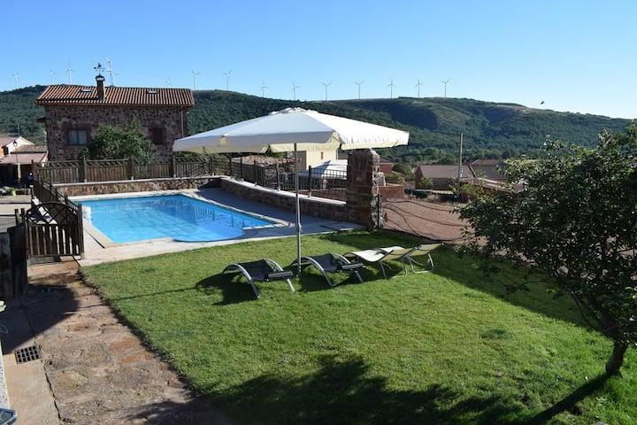 Casa Rural Burgos (6/7 Plz. ) Piscina y Barbacoa