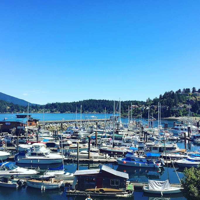 Beautiful Gibsons harbour.