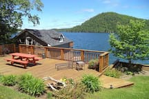 another deck over looking the boat house