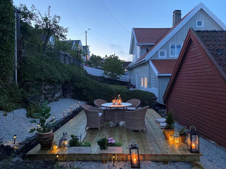 Leilighet med flott uteplass i Flekkefjord sentrum
